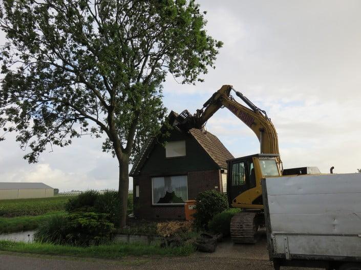 Obdam: Sloop Woning Lutkedijk In Obdam